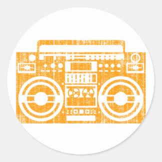 Boombox Classic Round Sticker