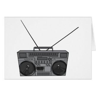 Boombox Ghetto Blaster Jambox Radio Cassette Greeting Card