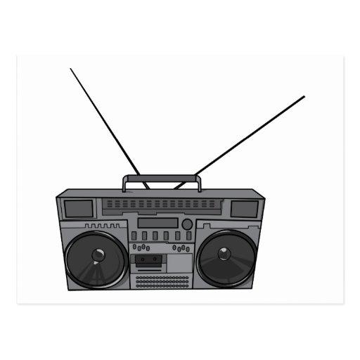 Boombox Ghetto Blaster Jambox Radio Cassette Post Card