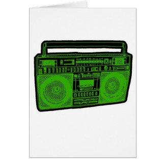 boombox ghetto blaster radio card
