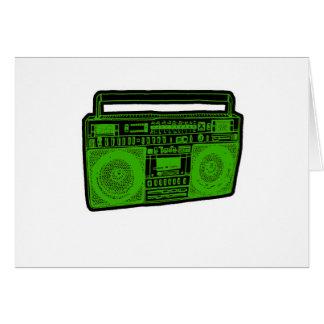 boombox ghetto blaster radio greeting card