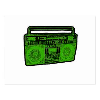 boombox ghetto blaster radio post card