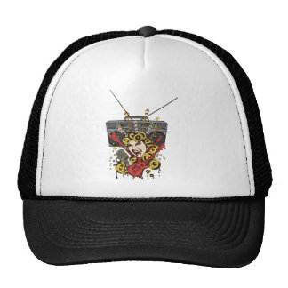 Boombox Girl ~ Retro Music Fantasy Art Trucker Hats