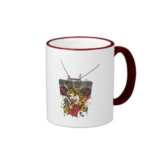 Boombox Girl ~ Retro Music Fantasy Art Coffee Mug