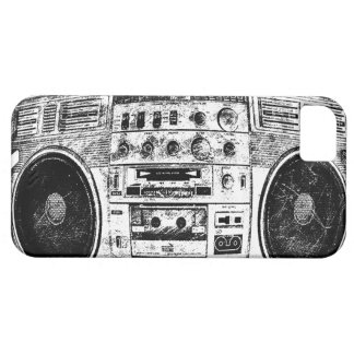 Boombox graffiti iPhone 5 case