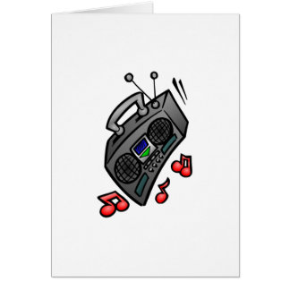 Boombox Greeting Card