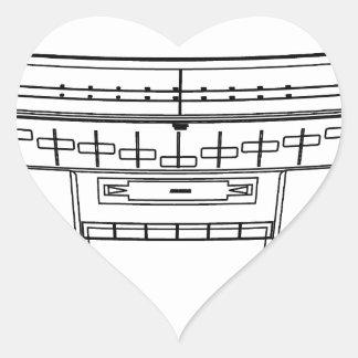 boombox heart sticker