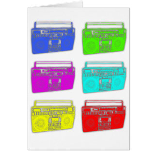 BOOMBOX multi color raver Card