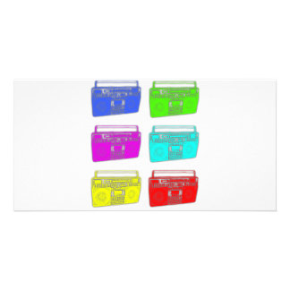 BOOMBOX multi color raver Photo Card