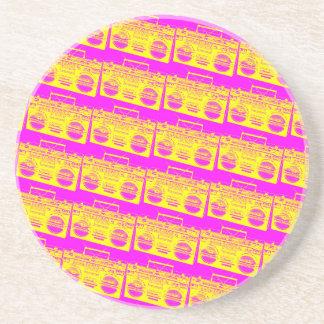 Boombox Pattern Coaster
