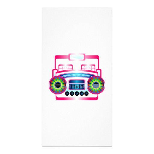 Boombox Custom Photo Card