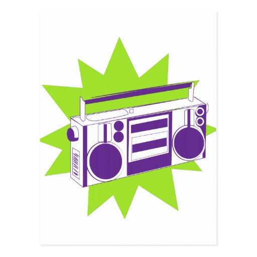 Boombox Post Card