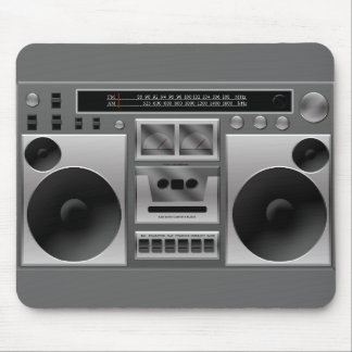 Boombox Radio Graphic Mouse Pad