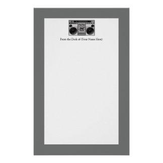 Boombox Radio Graphic Stationery Paper