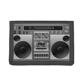 Boombox Radio Graphic Trifold Wallet