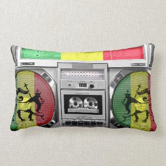 boombox reggae lumbar cushion