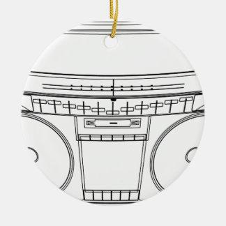 boombox round ceramic decoration
