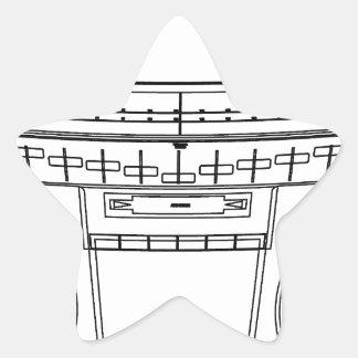 boombox star sticker