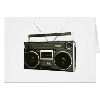 Boombox Stereo Radio Greeting Card