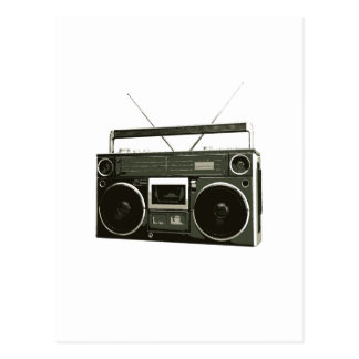 Boombox Stereo Radio Postcard