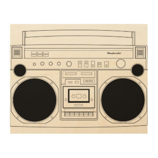 BoomBox with MaryJanesGirl decal Wood Canvas