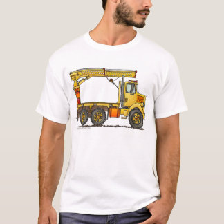 Boomed Flatbed Truck Construction Apparel T-Shirt