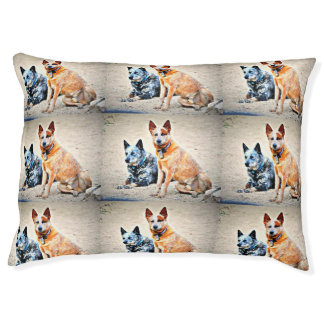 """""""Boomer and Jessie """" Large Dog Mat Bed"""