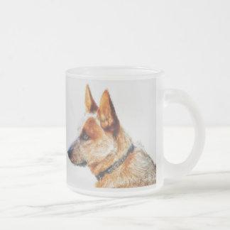 Boomer Frosted Glass Mug