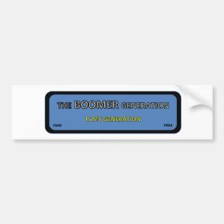 BOOMER generation bumper/window sticker