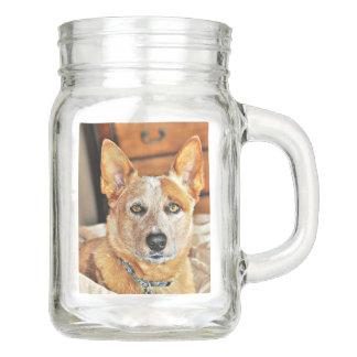 """Boomer' Mason Jar With Handle"