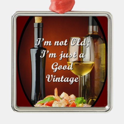 Boomer Metal Ornament for Wine Lovers