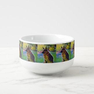 """Boomer"" Red Heeler Dog Soup Mug"