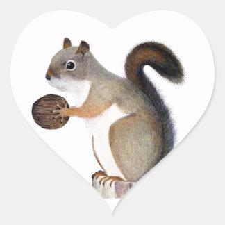 Boomer Squirrel Heart Sticker