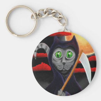 Boomer the Death Cat Key Ring