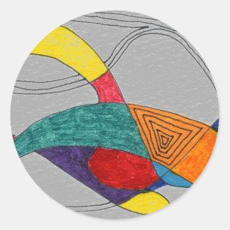 """Boomerang"" Abstract Design Sticker"