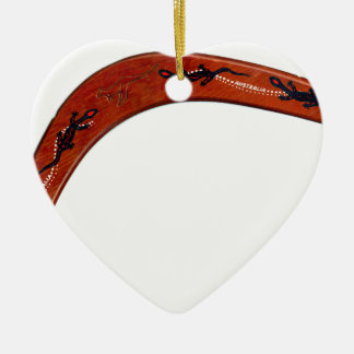 Boomerang Ceramic Ornament