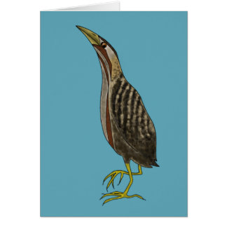 """Booming Bittern"" Greetings Card"