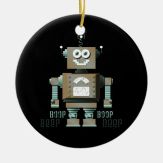 Boop Beep Toy Robot Ornament (inverse)