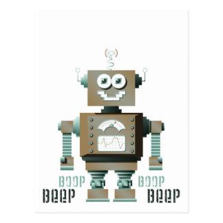 Boop Beep Toy Robot Postcard (lt)