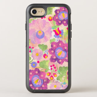 BooPooBeeDoo watercolor flowers OtterBox Symmetry iPhone 8/7 Case