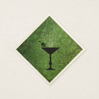 Boos and Booze Halloween Green Paper Napkins
