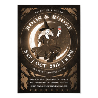 Boos & Booze Halloween Invitations
