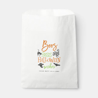 Boos Hisses and Halloween Wishes Favour Bag