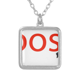 boosh brand logo apparel silver plated necklace