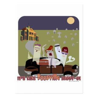 BoosVille Halloween Postcard