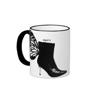 Boot butterfly ringer mug
