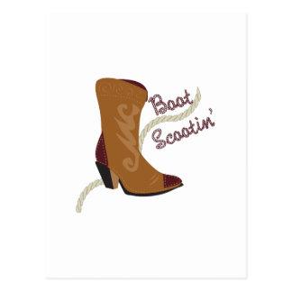 Boot Scootin Postcard