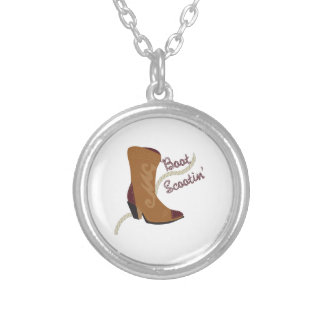 Boot Scootin Silver Plated Necklace
