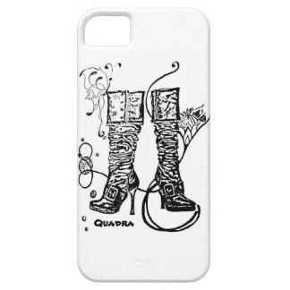 Boot Swirl White iPhone5 Case