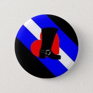 bootblack pride flag 6 cm round badge